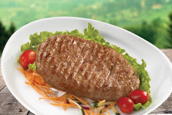 Hamburger di chianina fiorani e c. azienda di produzione carni ambiente e piatto