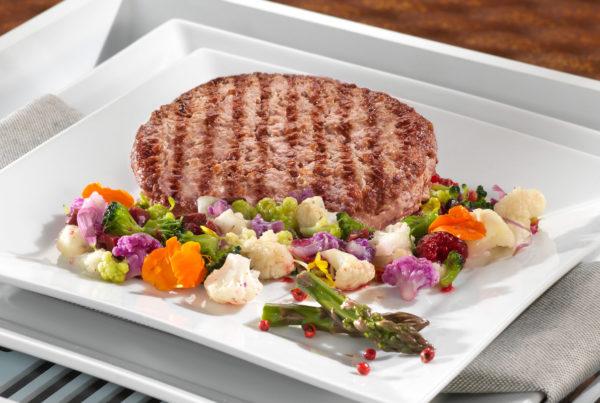 Hamburger magro piatto ambiente fiorani e c. azienda lavorazione hamburger