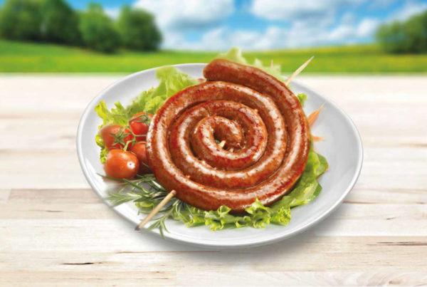 Luganega peperoncino linea benessere  piatto fiorani e c. industria lavorazione carni