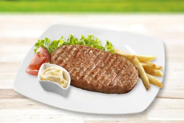 Maxi hamburger linea benessere fiorani e c. industria produzione hamburger suino e bovino