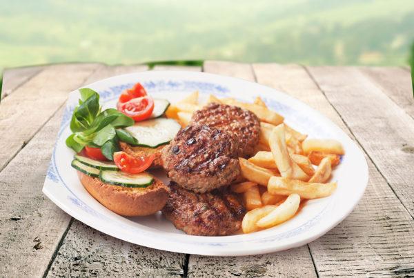 Mini hamburger di vitello fiorani e c. azienda di produzione hamburger