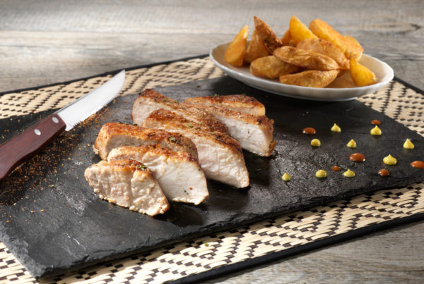 Tagliata di lonza piatto fiorani e c. impresa produzione carne