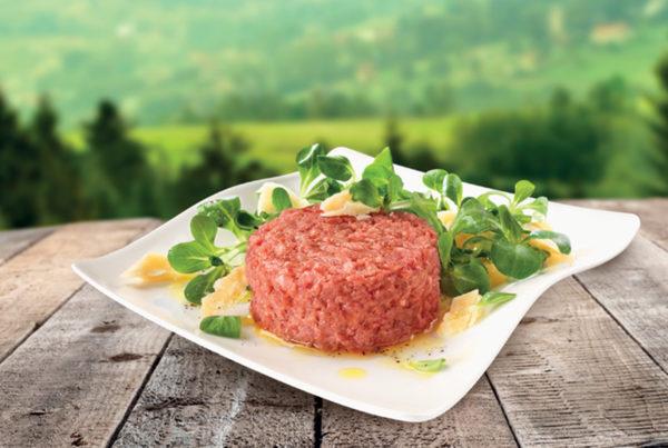 Tartare gustosa piatto fiorani e c. produzione e lavorazione carni