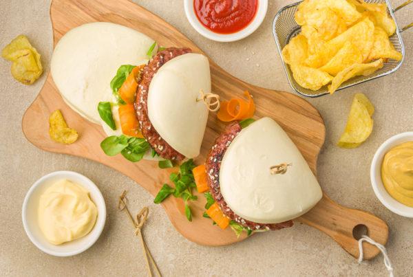 Bao buns burger