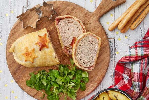 Ricetta polpettone alla wellington con patate al forno fiorani carni