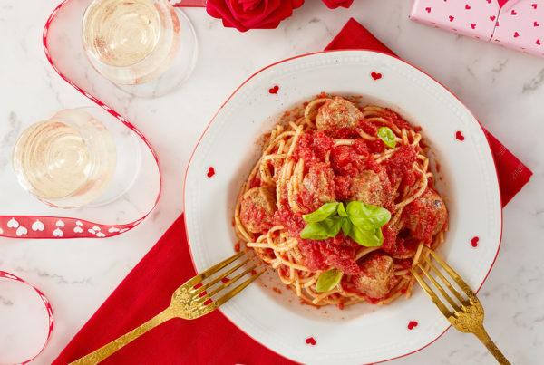 Ricetta fiorani carni spaghetti con polpette san valentino