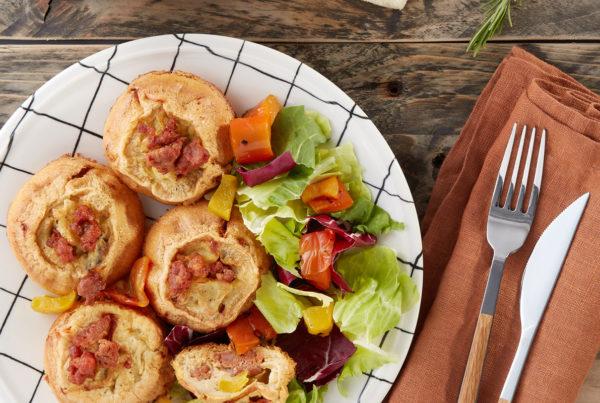 Ricetta frittatine monoporzione con peperoni e salsiccia luganega fiorani