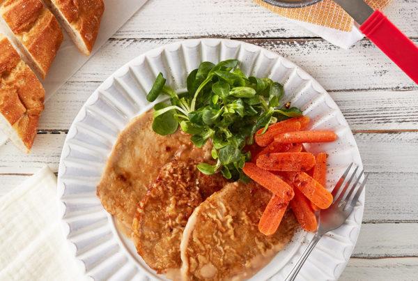 Ricetta fiorani scaloppine di lonza con carote baby al burro